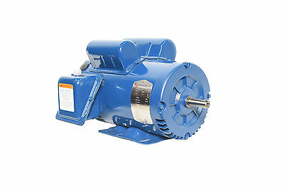 "5 HP Compressor Motor Electric 56 frame 3455 rpm 5/8"" shaft free shipping"