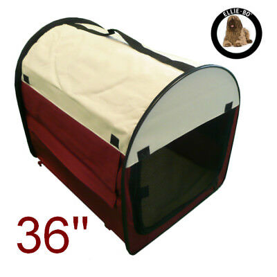 """36"""" Large Portable Soft Fabric Dog Kennel Crate Cage Carrier"""