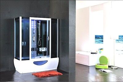 Combined whirlpool jacuzzi spa bath steam enclosure shower screen cabin 1650x800
