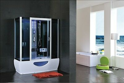 Combined whirlpool jacuzzi spa bath steam enclosure shower taps cabin 1500x850