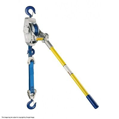�� Lug-All ~ Model 4-A ~ 2 TON Web Strap Hoist ~ Cable Winch Puller ~ AWESOME ��
