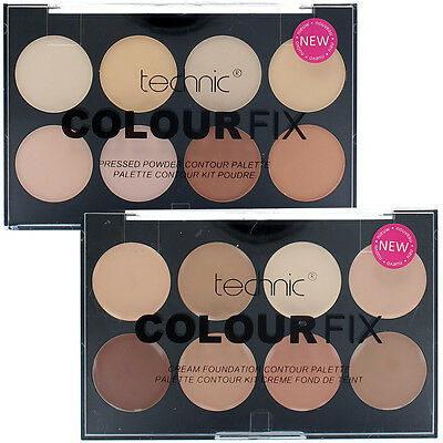 Technic Duo Colour Fix Set - 8 Colour Foundation Palette & 8 Colour Contour Kit