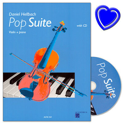 Pops You Know 30 Pop Film TV Songs für Violine Geige und Klavier Noten mit CD