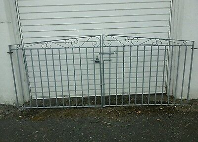 Galvanised Driveway Gates  And Matching  Garden Gate