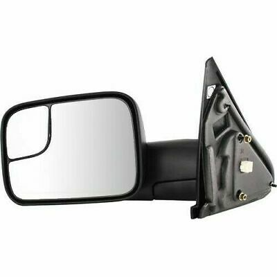 Dodge Ram 1500 2500 3500 Left Towing Mirror Power Heated Flip-Up Black 2002-08