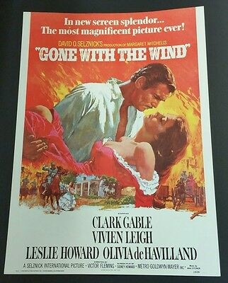 """"""" Gone with the Wind"""" / Commercial Movie Poster"""