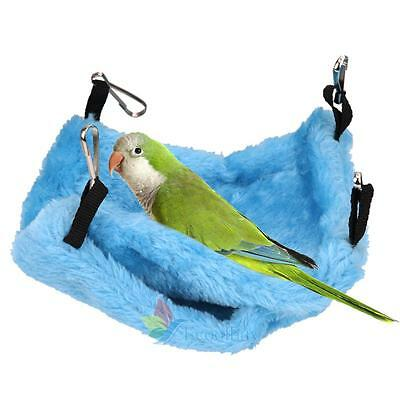 Bird Parrot Plush Hammock Cage Snuggle Happy Hut Tent Bed Bunk Toy Hanging Cave#