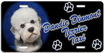 Dandie Dinmont Terrier 1 Taxi Line License Plate (( LOW CLEARANCE PRICE ))