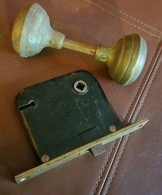 Vintage Door Knob Set Antique Architectural Restoration Home Remodel