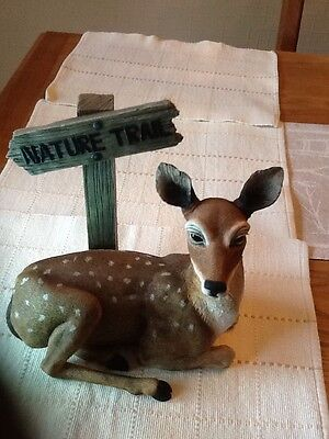 The Leonardo Collection Deer With Nature Trail Signpost