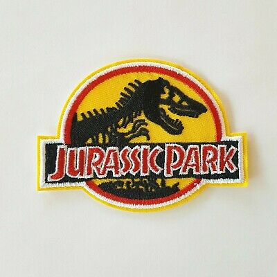 Jurassic Park Movie Logo Embroidered Iron-On Deluxe Patch Yellow New Patch