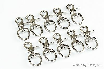 10 Trigger Snap Round Eye Swivel Lobster Clasp Lanyard Hook 3/4 Inch 90Lbs