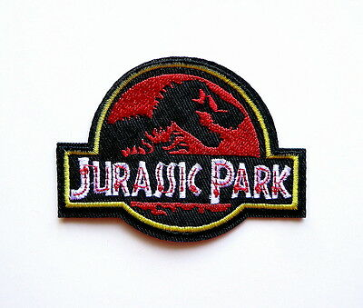 f8ee4d2b18c Jurassic Park Movie Logo Embroidered Iron-On Deluxe Patch New Red Applique  Patch