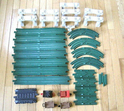 Large GeoTrax Lot - Track, Climbing Track, Elevated Risers, Cars & More