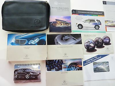 Original 2010 MERCEDES BENZ C-CLASS OWNERS MANUAL BOOK SET +LEATHER CASE