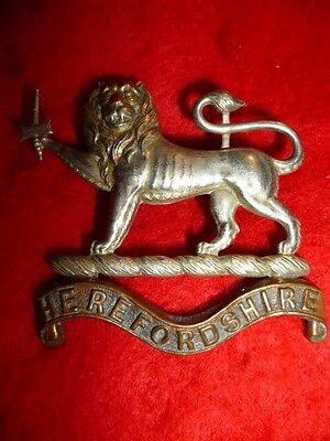 The Herefordshire Regiment Edwardian Cap Badge, KK 1794