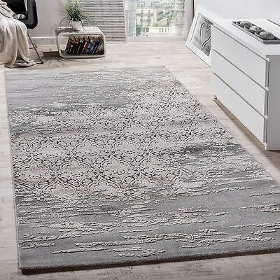 New Rug Modern Shabby Chic Luxury Rugs Grey Ornaments Quality Small Large Rugs