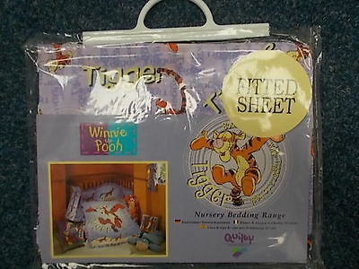 New/sealed - Winnie The Pooh/tigger Nursery Fitted Sheet