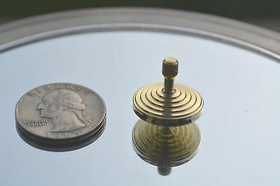 NEW~Handmade Brass~Double Tiffany Style~Pocket Size Style Inception Toy Top