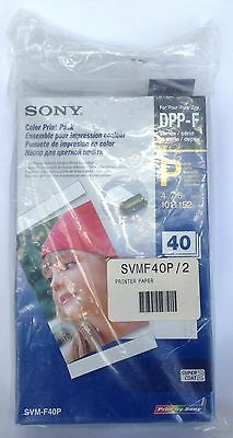 SONY PHOTO COLOR PRINT PACK SVM-F40P NEW OPEN BOX 12/2009 JAPAN 4x6 PAPER 40
