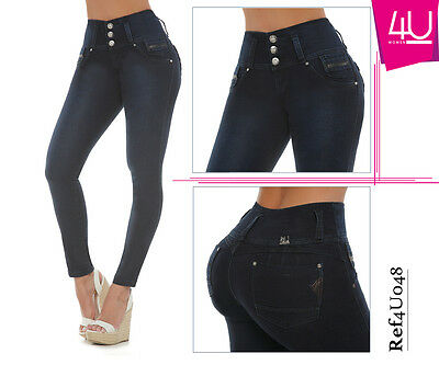 Verox Jeans colombianos butt lifter fajas colombianas jeans levanta cola 2608