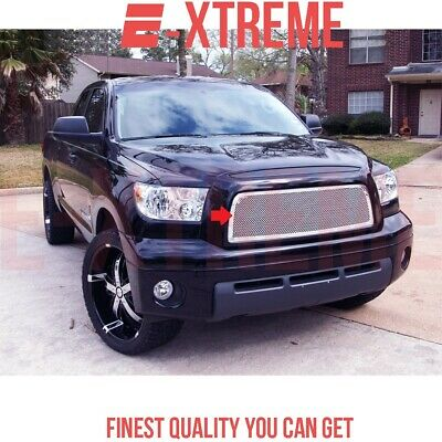 Fit Toyota Tundra 07-09 Upper Stainless Steel Mesh Grille (Logo Covered) Grill
