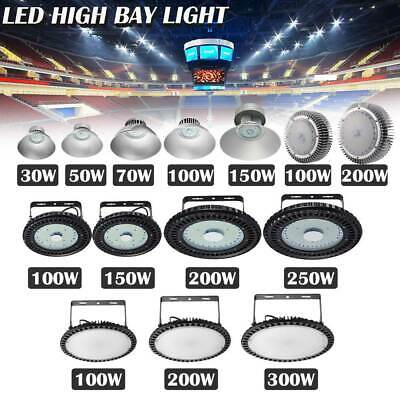 300W 250W 200W 150W 100W UFO LED High Bay Light Gym Warehouse Industrial Lamp