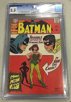 BATMAN #181 CGC 5.5 cr/ow pages CANADA SELLER 1st Poison Ivy