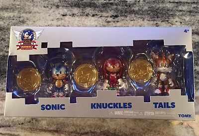 Brand New Sonic the hedgehog 25th Anniversary Set of 3 Sonic Knuckles Tails