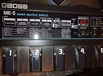 BOSS ME-5 Guitar Multiple Effects Pedal