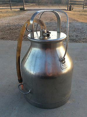 Vintage DeLaval Stainless Steel Milk Bucket Pail W/ Lid    CREAM CAN 5 Gallon