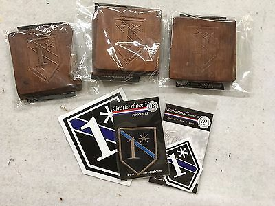 16 Leather Coasters One Ass To Risk Prototypes, Decals and Patch