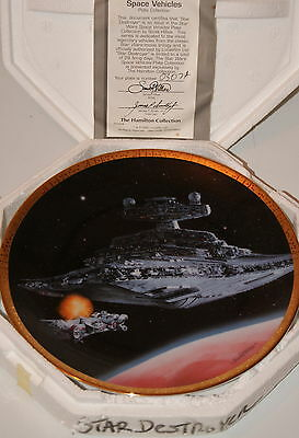 Star Wars STAR DESTROYER HAMILTON Plate in Box, Certificate of Authenticity