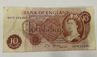 Bank Of England 10 Shilling High Grade Note ~ 2 Available