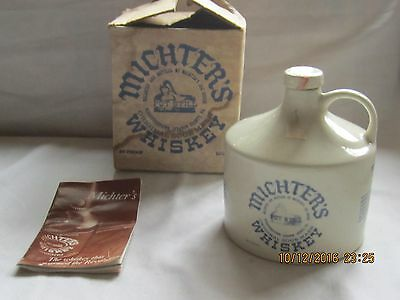 Vintage Michter's Original Sour Mash Whiskey Bottle in Original Box with Book