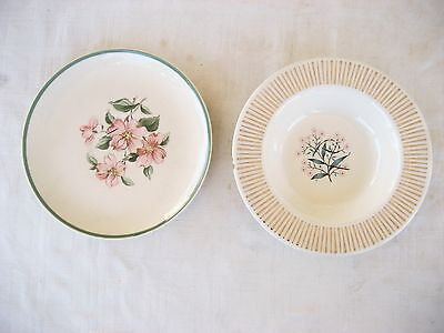 """Old cup saucer """"HARMONY HOUSE SYMPHONY DOGWOOD"""" and berry dish w/flowers"""