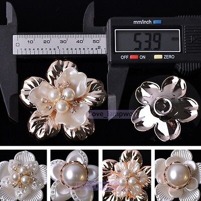 New Resin Pearl Flower Rhinestone Flatback Embellishments Crafts DIY Wedding