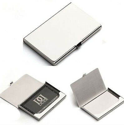 Credit ID Card Holder Box Metal Pocket Business Name Box Case Stainless Steel HS