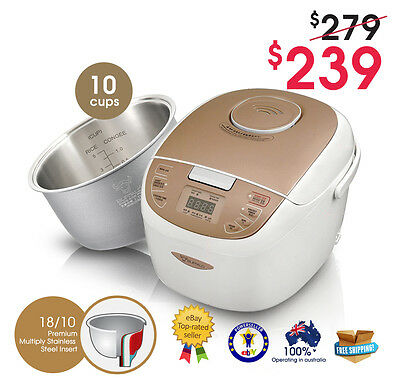 BUFFALO New Enco 10-cups Rice Cooker (Stainless Steel Insert)