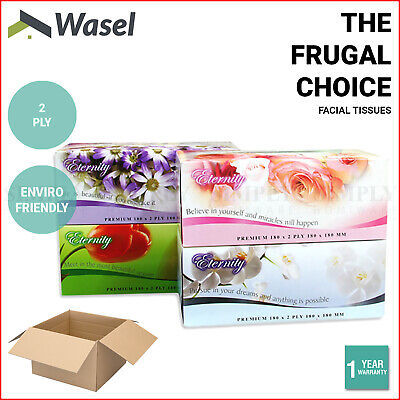 36x Facial Tissues Bulk Tissue Boxes Box 2 Ply Soft White Designs Wholesale