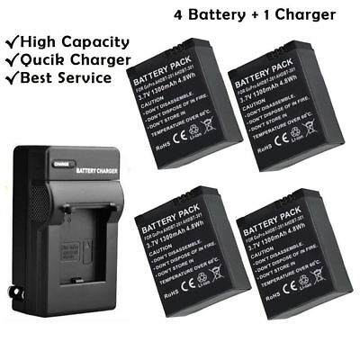 Battery/Travel Charger For Gopro 3 AHDBT-301/302/201 HD Hero 3/3+ Black Silver