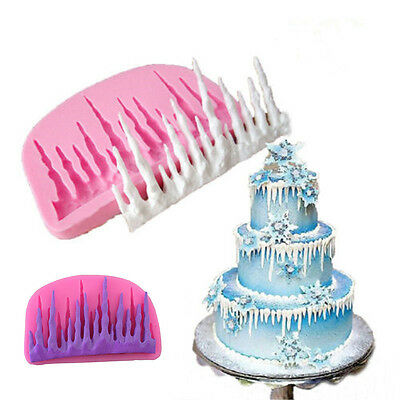 DIY 3D Cold Ice Silicone Cake Molds Fondant Tools Decorating Baking Tools Mould