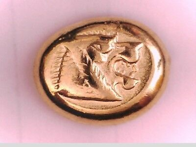 Greek Asia Minor Lydia King Alyattes Kroisos 24K Gold Plated Miletos Hecte Coin