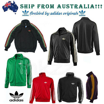 New Men's %Adidas Original Firebird Trefoil Tracksuit Stripe Track Top Jacket