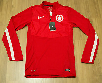 SC Internacional Nike Player issue Training Red Half zip - Size Small