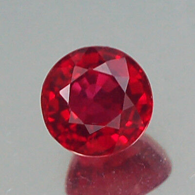 Charming Vvs Aa Round Pigeon Blood Red Ruby Natural