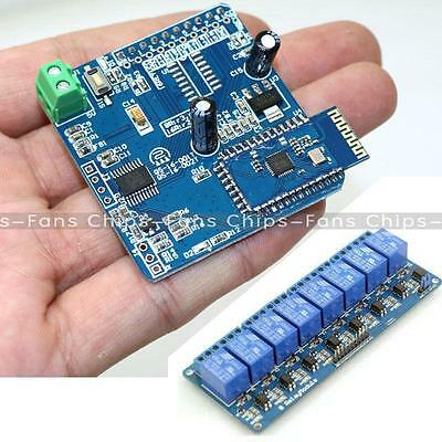 12V 4/8CH Bluetooth Relay Android Mobile Remote Control Motor 5V Relay Module UK