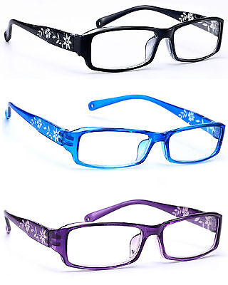 Women READING GLASSES +0.5 +1.0 +2.0 +3.0 Eyeglasses Retro Slim Frame Flowers