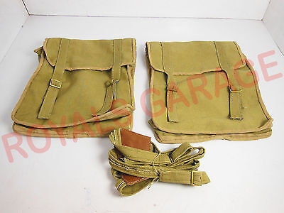 Royal Bikes Classic Electra Bsa M20 Hanging Side Canvas Bag Military Green