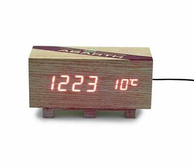 Abarth Wooden Crate Design LED Alarm Clock New & Genuine 59230788